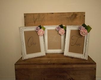 Wedding table number frames