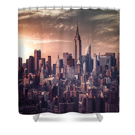 New york city shower curtain nyc skyline new by for Curtains and drapes nyc