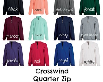 Monogrammed Charles River Crosswind 1/4 Zip Fleece- Personalized Embroidery!