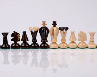 Brand New Hand Crafted Wooden Chess Pieces