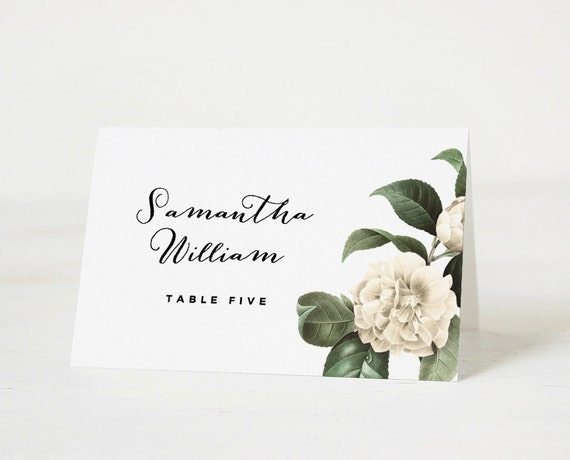 Printable place card template wedding place card name tags for Name place cards wedding
