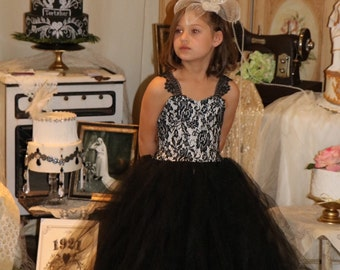 Custom Tulle and Lace Flower Girl Dress