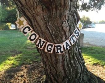 Congrats Banner, Congratulations Banner, Wedding Banner, Engagement Party Garland, Graduation banner, Congratulations Sign