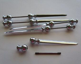 Desk accessories- desk accessory- letter opener- beaded letter opener- silver beaded gift- silver letter opener- office gift- office décor