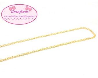 10 m chain Golden mesh convict 3x2mm