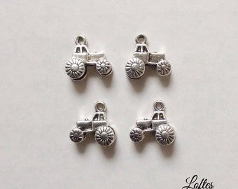 4 tractor charms - SCT105