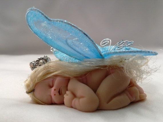 Polymer clay babies fairy princess by ivydollarts on etsy
