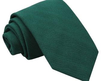 JA Ottoman Wool Hunter Green Tie