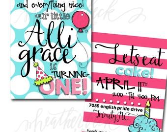 Girls Birthday Party Invitation