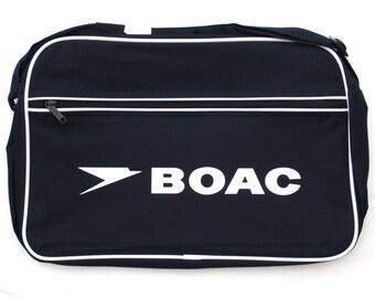 BOAC Airways Airline British Retro Flight Shoulder Bag