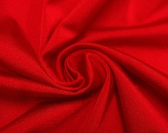 "Red Shiny Polyester Fabric Lycra Spandex 4-way Stretch 60"" Wide BTY Costume Dance/Active Wear"