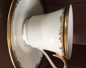 Three LENOX CHINA ECLIPSE Series Footed Cups and Saucers