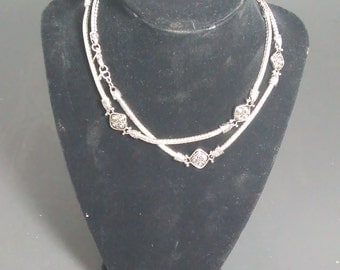 "30"" stainless steel necklace"
