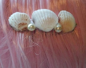 Sea shell hair comb