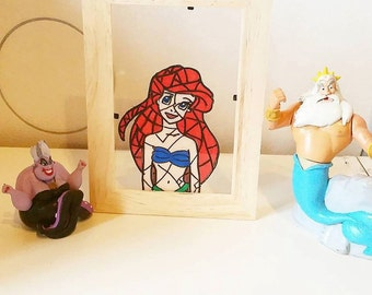 Stained glass: Ariel the Little Mermaid