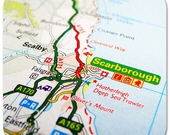 Scarborough Map Coasters