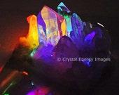 Arkansas Quartz Crystal Photo, Healing Stones, Healing Crystal, Rainbow Crystal, Metaphysical Crystal, Meditation Tool, Spiritual Art Print
