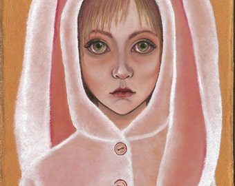 "Giclee Canvas Art Print / Pop Surrealism Art / Fantasy Painting - Limited Edition Print / ""I am White Rabbit"" by N. Prutski"