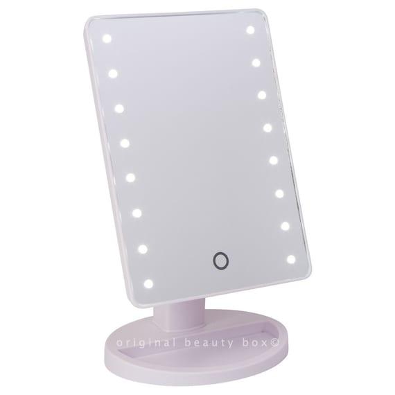 white mini vanity mirror. Black Bedroom Furniture Sets. Home Design Ideas