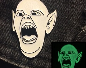 Glow In The Dark Bat Boy Soft Enamel Pin