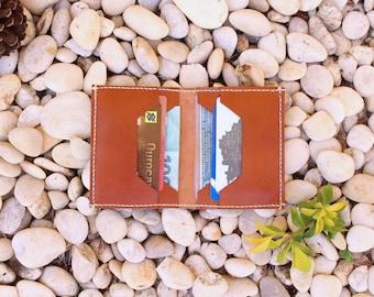 Leather Wallet, leather card wallet, men's wallet, thin wallet, minimalist wallet