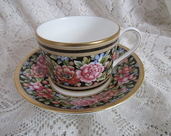 Wedgwood Clio Floral Tea Cup and Saucer