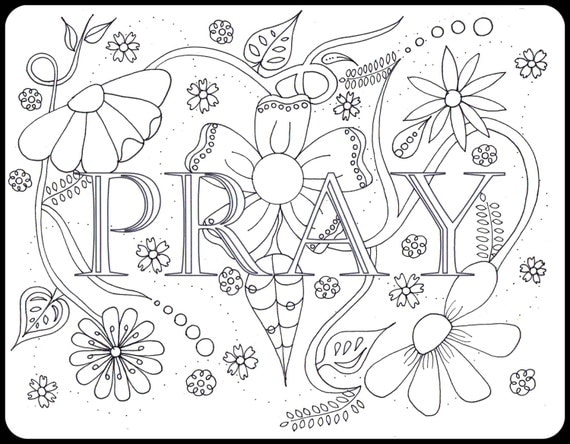 pray protection coloring pages with matching note cards digital download