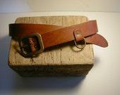 Vintage Brass Clip Corner Belt with Dee Ring Detail