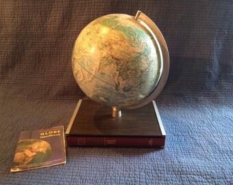 Vintage Rand McNally Atlas Globe/Globe and Atlas Book