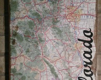 Antiqued Colorado Map