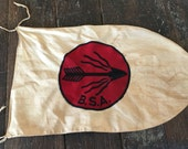Vintage Boy Scouts of America Flaming Arrow Patrol Flag