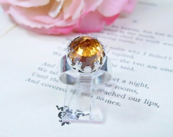 Rich Champagne Cubic Zirconia Ring