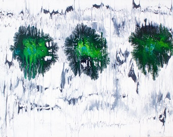 """Large Abstract Acrylic Art Painting -- """"no. 11"""""""