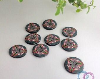 """Button """"Kaleidoscope Kato"""""""