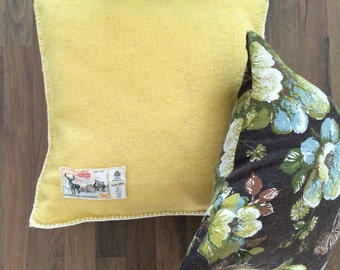 Vintage yellow pillow