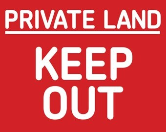"""Private land Keep out 8x10"""" Metal Sign property sign 247"""