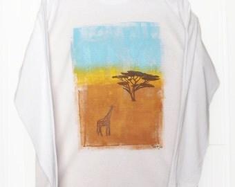 Savannah shirt, hand painted and hand block printed