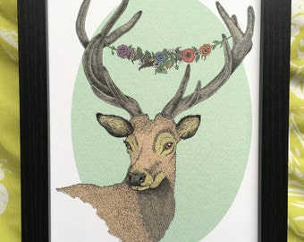 Stag Deer Animal Art Print