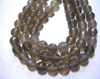 8mm Grey Agate Gemstones 8mm Light Gray Gemstones 15 inch strand Agate 48 Beads Agate Jewelry Grey Matters Shades of Grey