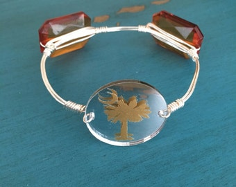 Palmetto Tree Bangle Bracelet