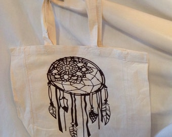 Dream Catcher & Feathers Tote
