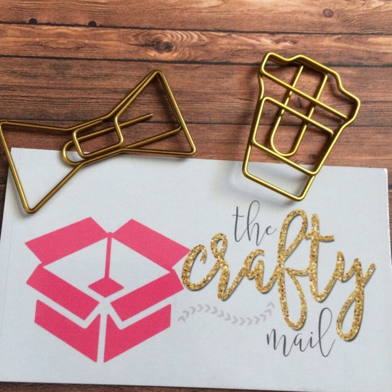 Gold Coffee Paperclip/Gold Bow Paperclip/Combo Paperclip, planner clip, bookmark