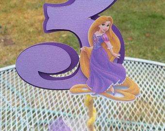 Rapunzel cake topper,  rapunzel centerpiece birthday party