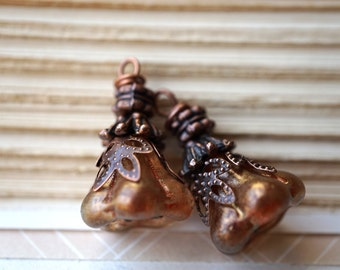 Copper Bell Charms, Charms, Beads