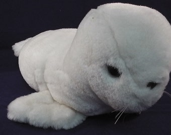 """vintage softtoy made by foerster, high quality, white seal,  11.4"""" HANDMADE"""