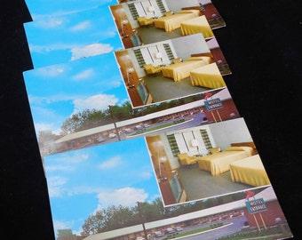 West Peabody, Massachusetts Plaza Motel Postcards, 4 Unmailed Standard Postcards