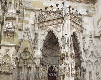 Cathedral Entrance, Gothic Church, Regensburg, Bavaria, Fine Art Photography,