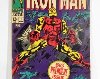 Invincible Iron Man Issue #1 : Big Premiere Issue; Silver Age Marvel Comic Book