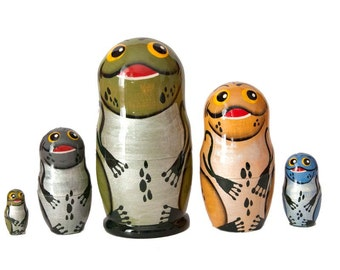 Nesting Dolls Frog russian matryoshka doll Frogs - kod53p