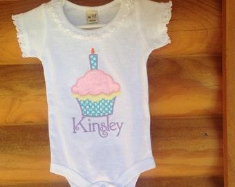 Personalized Cupcake Birthday Shirt